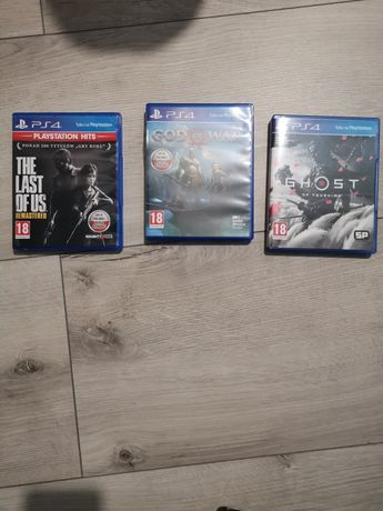 Sprzedam gry God of war . The last of US left behind. Ghost of tsushim