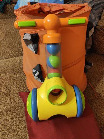 Игрушка для детей от 1 года, каталка с шариками