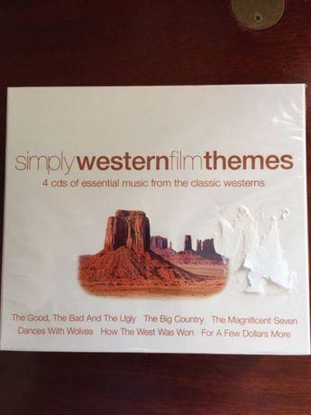 4 Cd de música de filmes western embalagem selada