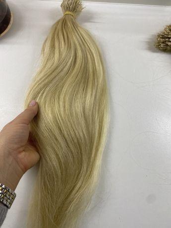 Волосы натуральные блонд для наращивания
