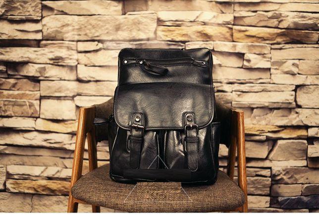 Мужской кожаный рюкзак шкіряний ранець мужская кожаная сумка бананка