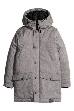 Утепленная зимняя парка куртка пуховик
