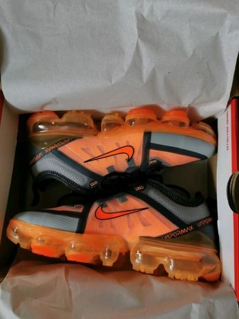 Nike air max vapormax 2019 gs pomarańczowe szare 35 22,5 cm