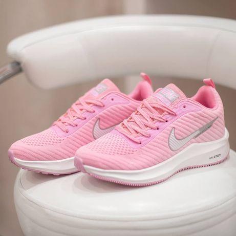 4180 Nike Air Zoom Flyknit розовые сетка кроссовки женские летние