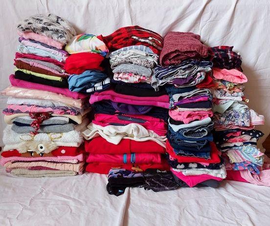 Mega Wielka Paka Ubrań dla dziewczynki od 104 do 116 Stan BDB