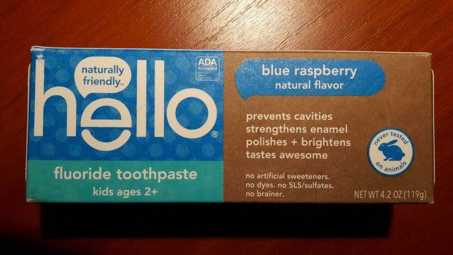 Зубна паста для дітей з фтором, Голуба малина, 119 грам