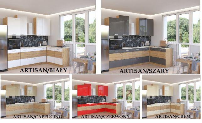 Meble kuchenne Artisan 5 kolorów wysoki połysk, kuchnia, szafki