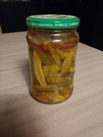 Ogórki z chilli domowej roboty