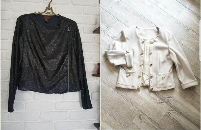 Піджачок кремовий, куртка косуха в паєтки