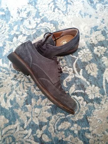 Sapatos Ecco - Oxford camurça