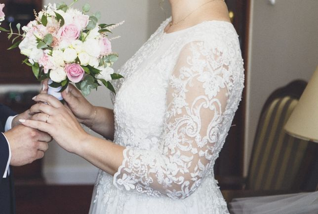 Suknia ślubna ecru Place For Dress wzrost 172 + obcas