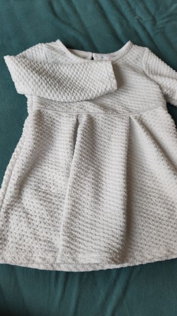 Biała sukienka chrzest urodziny