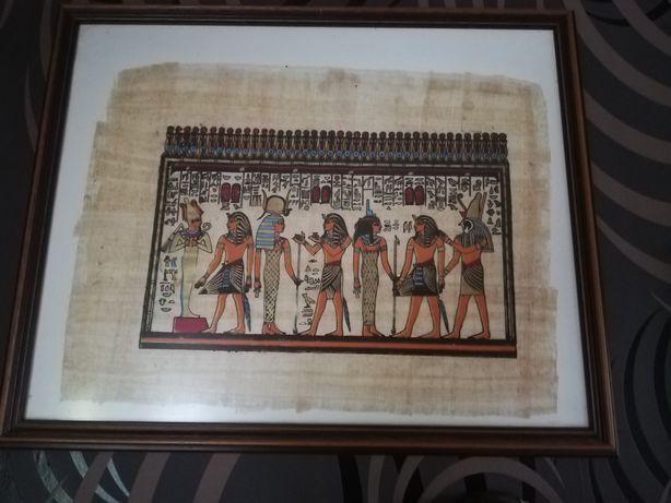 Obraz malowany na papirusie