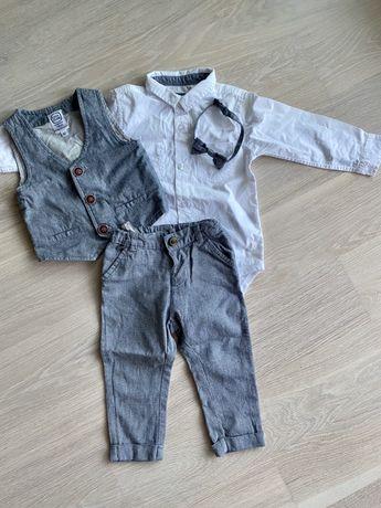 Śliczny elegancki strój dla chłopca r.92
