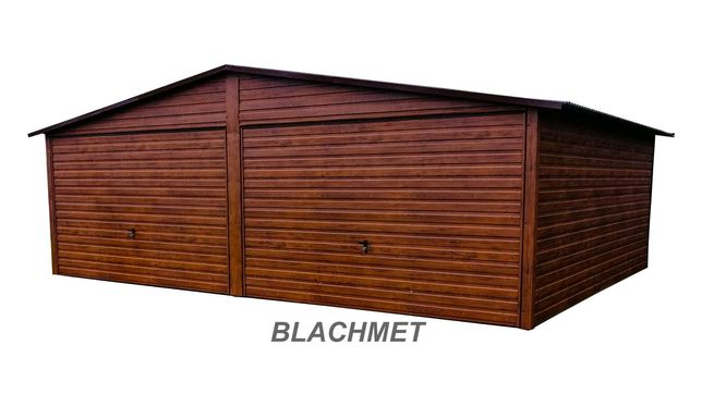 Garaż blaszany premium drewnopodobny 6x6 6x5 5x5 7x7 8x8 9x6