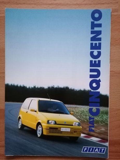 Prospekt Fiat Cinquecento S SX Suite oraz Sporting