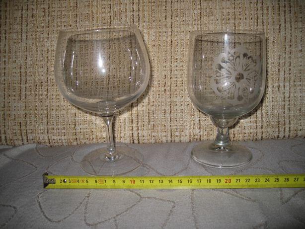 Бокалы большие (2), стекло, СССР