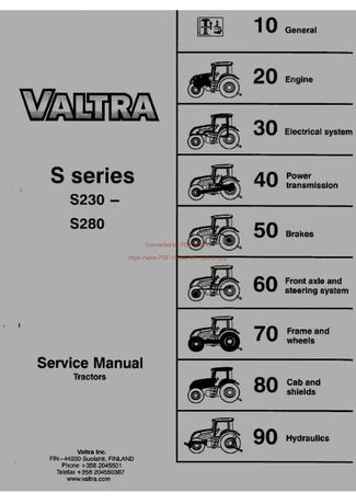 Instrukcja obsługi ciągnika Valtra seria S S230-S280