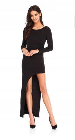 Sukienka sugarfree czarna długa xs