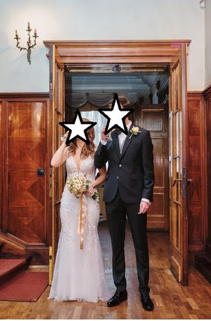 Sprzedam suknie ślubną + welon i dodatki
