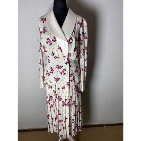 Платье шёлковое светлое с подкладкой  Alessandra Rich Италия