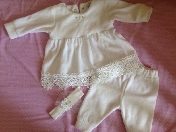Белый костюмчик для девочки