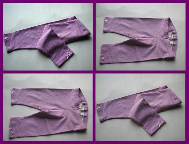 Legginsy liliowe bawełniane H&M rozmiar 92