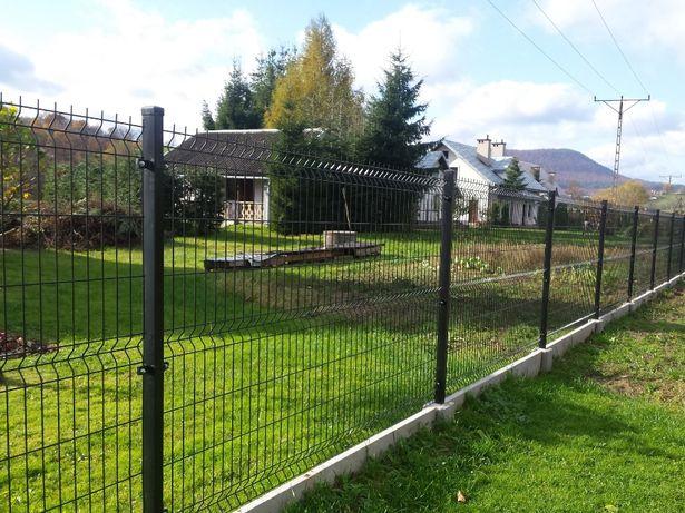 Metr bieżacy 53zł kompletne ogrodzenie panelowe z podmurówka! h123