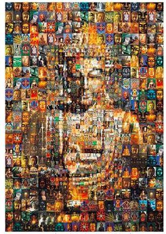 Puzzle kolorowy Buddha, 1000 sztuk