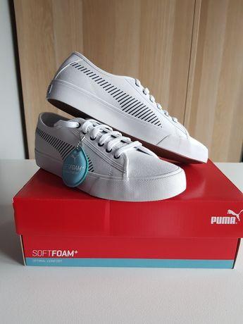 Nowe białe buty sportowe, sneakersy Puma Bari, rozmiar 39