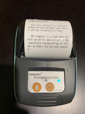 Портативный принтер POS для печати чеков работает от АКБ