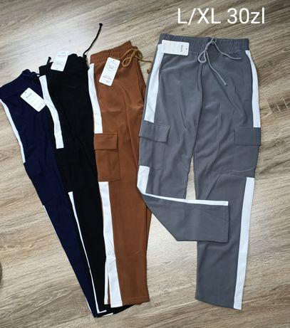 Bojówki spodnie dresowe damskie L/XL