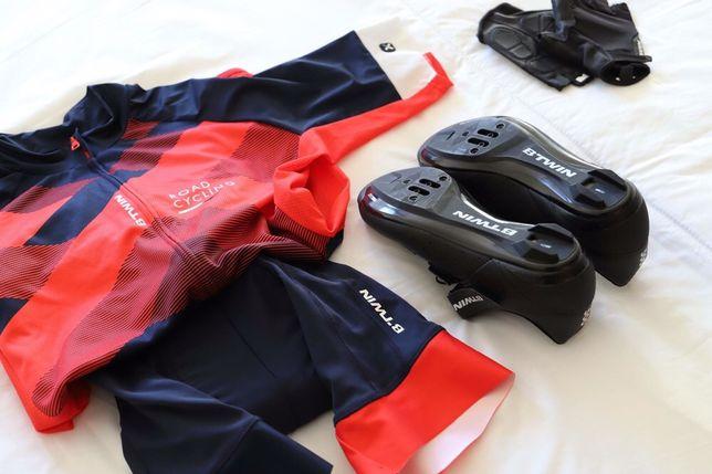 Calçado / calções / camisola / luvas / travessas BTWIN