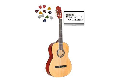 Gitara Klasyczna AMBRA VIVA 3/4 +kurs+3piórka DARMOWA WYSYŁKA