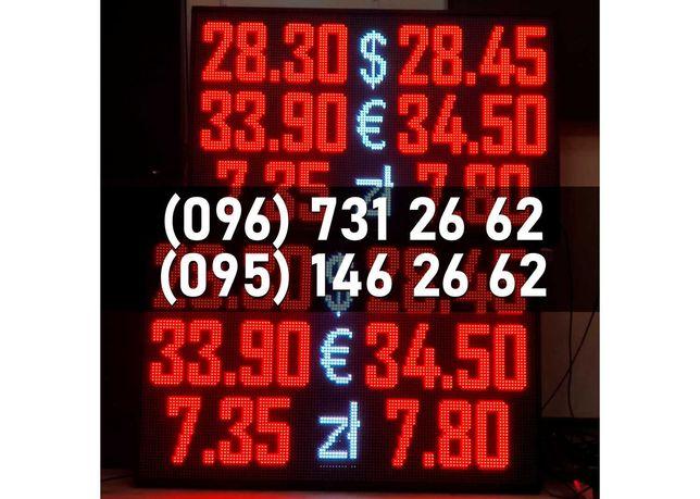 LED табло валют, светодиодное табло для ломбарда, LED кантор, табло
