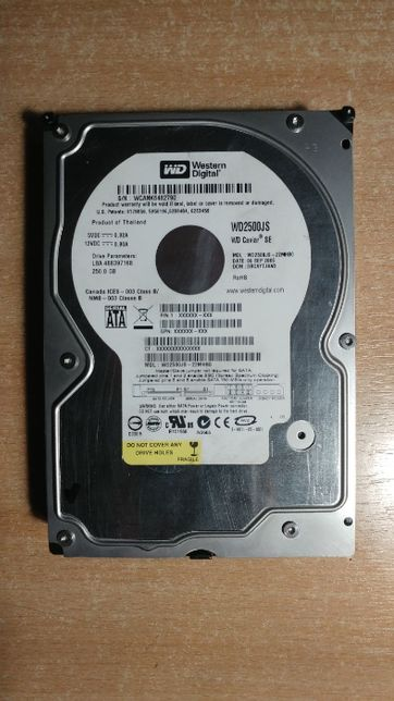 Western Digital WD2500JS Caviar SE 250Gb HDD Жесткий диск