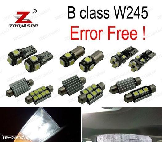 KIT COMPLETO DE 20 LÂMPADAS LED INTERIOR PARA MERCEDES-BENZ CLASE B W245 B150 B160 B170 B180 B200 0