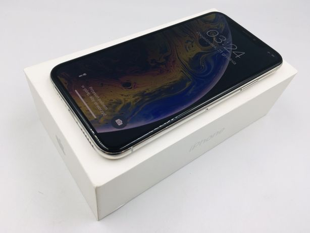 iPhone XS 64GB SILVER • PROMOCJA • GWAR 1 MSC • AppleCentrum