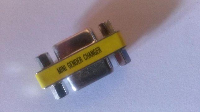 Gender changer Mini, U.S.A. VGA HD-15 female-female