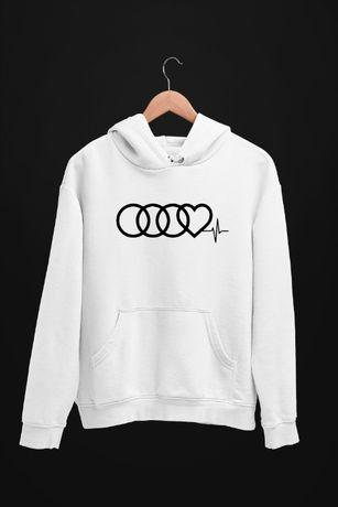 Bluza z kapturem Audi Love - męskie i damskie - dostępne 4 kolory