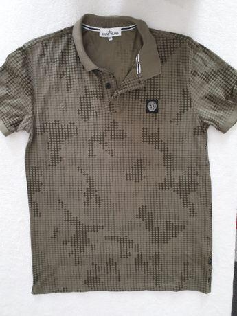 STONE ISLAND polówka XL Khaki T-shirt 54 modna koszula koszulka Army