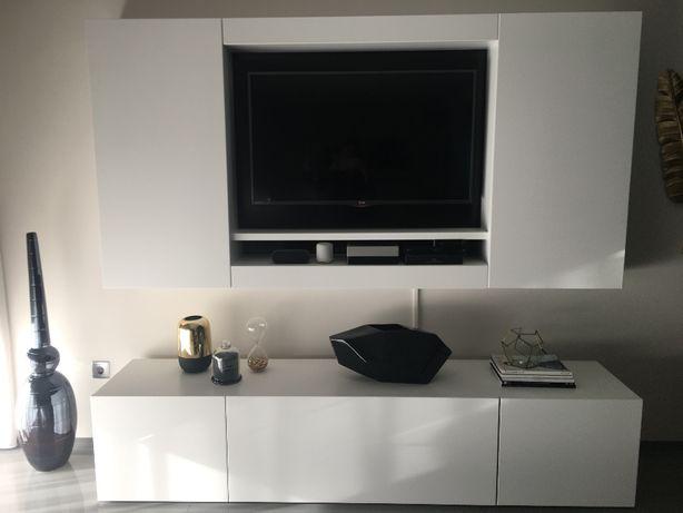 Móvel TV lacado branco