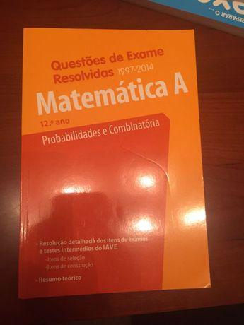 Livros de apoio a exames 12° ano Matemática