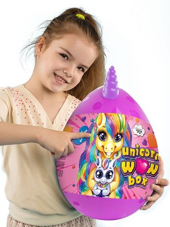 Набор Яйцо-Сюрприз большое и среднее мальчика и девочки Unikorn WOW