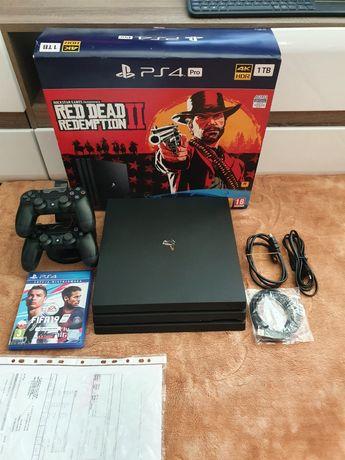 PS4 PRO 1TB CUH-7216B+2 Pady. Stan idealny!