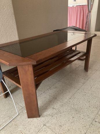 Mesa sala em pinho mel
