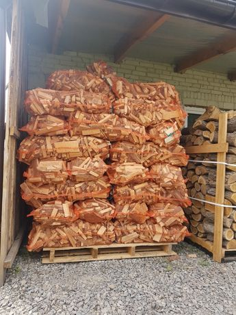 Drewno drzewo rozpałkowe opałowe workowane