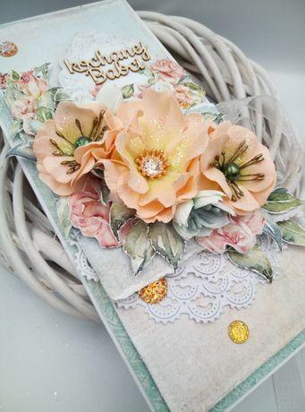 Kartka ręcznie robiona, na dzień babci, urodziny, imieniny