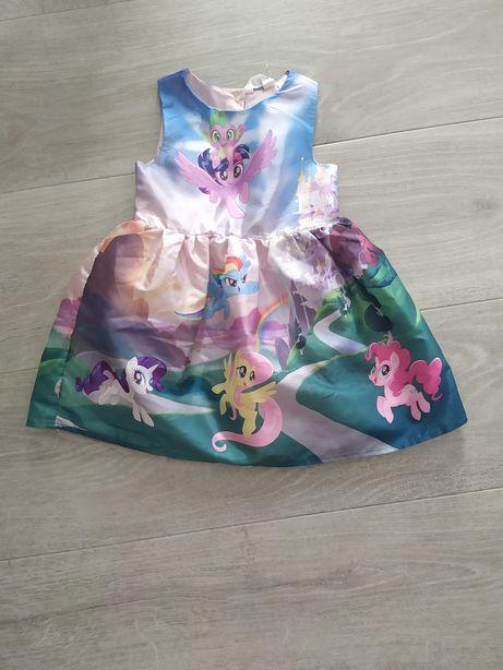 Sukienka My Little Pony H&M r.98 jak nowa