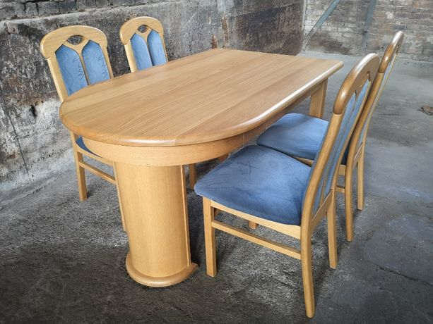 *Ładny zestaw do jadalni - stół z krzesłami* transport